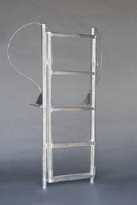 A1A 5 Step Finger Pier Retractable Dock Ladders