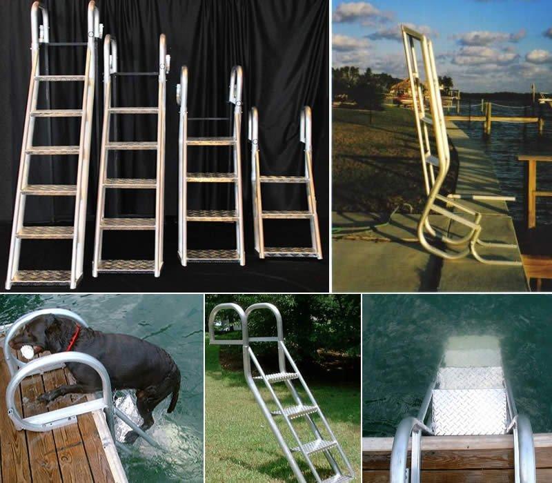 **NEW 5-Step Angled Dock//Swim//Pontoon Ladder