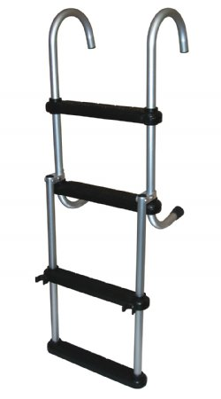 4 Step Anodized Aluminum Removable Pontoon Ladder