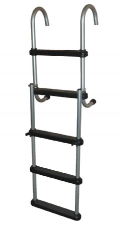 5 Step Anodized Aluminum Removable Pontoon Ladder