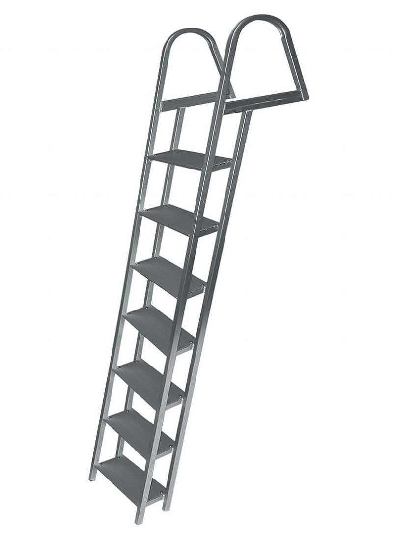7 Step Angled Anodized Aluminum Dock Ladders 7 Step