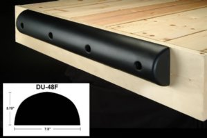 4ft Medium Foam Dock Bumpers, FLAT, for boats up to 45'