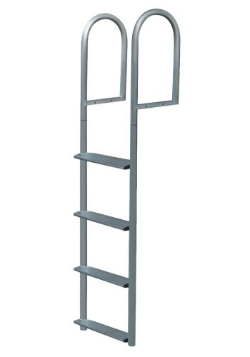 JIF Marine 7 Step Wide Step Stationary Dock Ladder
