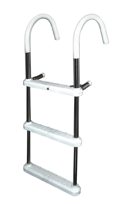 3 Step 7 In Hook Anodized Aluminum Gunwale Ladders 7