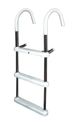 3 Step Stainless Steel Gunwale 11 in. Hook Ladder