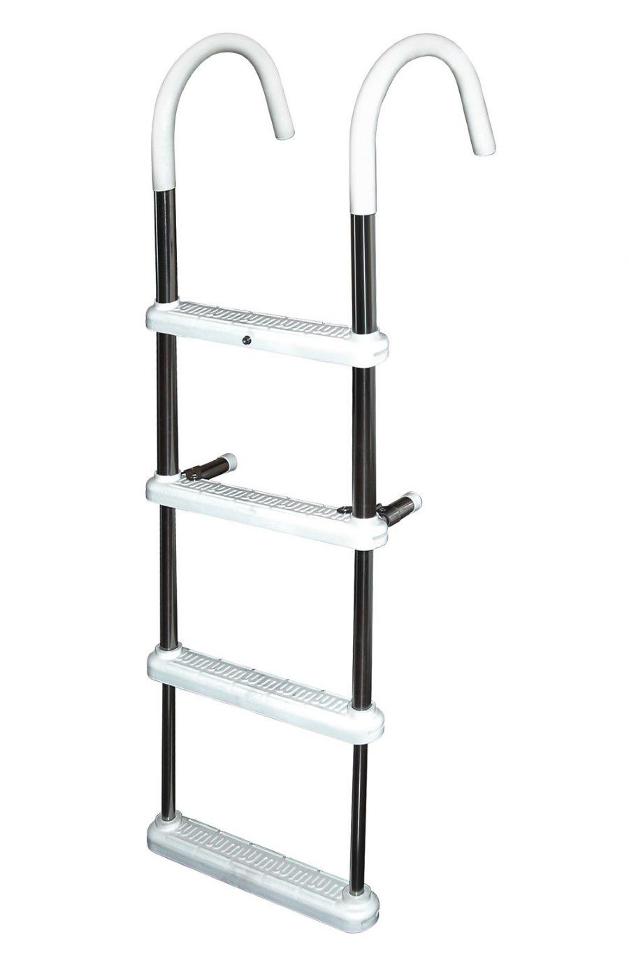 3 Step Gunwale 11 Hook Ladder Stainless 316 Jif Marine