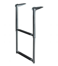 2 Step Stainless Steel Telescoping Transom Drop Ladder