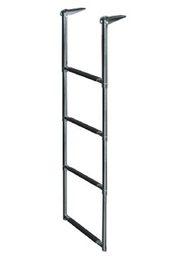 4 Step Stainless Steel Telescoping Transom Drop Ladder