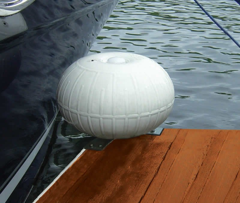 Dock Pro 18 In Inflatable Dock Wheels Corner Mount
