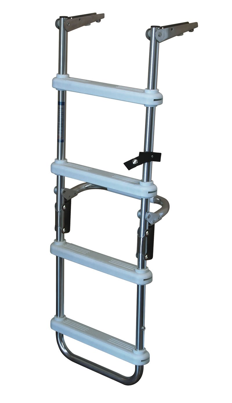 4 Step Folding Pontoon Deck Ladders 4 Step Folding