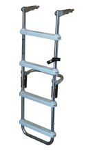 4 Step Anodized Aluminum Folding Pontoon Deck Ladder