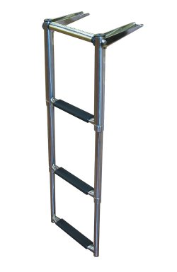 3 Step Over Platform Amp Telescoping Boat Ladders Dockgear Com