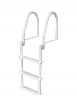 3 Step Galvalume Flip Up Dock Ladders