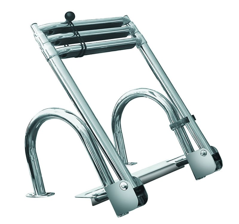 3 Step Rear Entry Stainless Steel Pontoon Ladders 3 Step