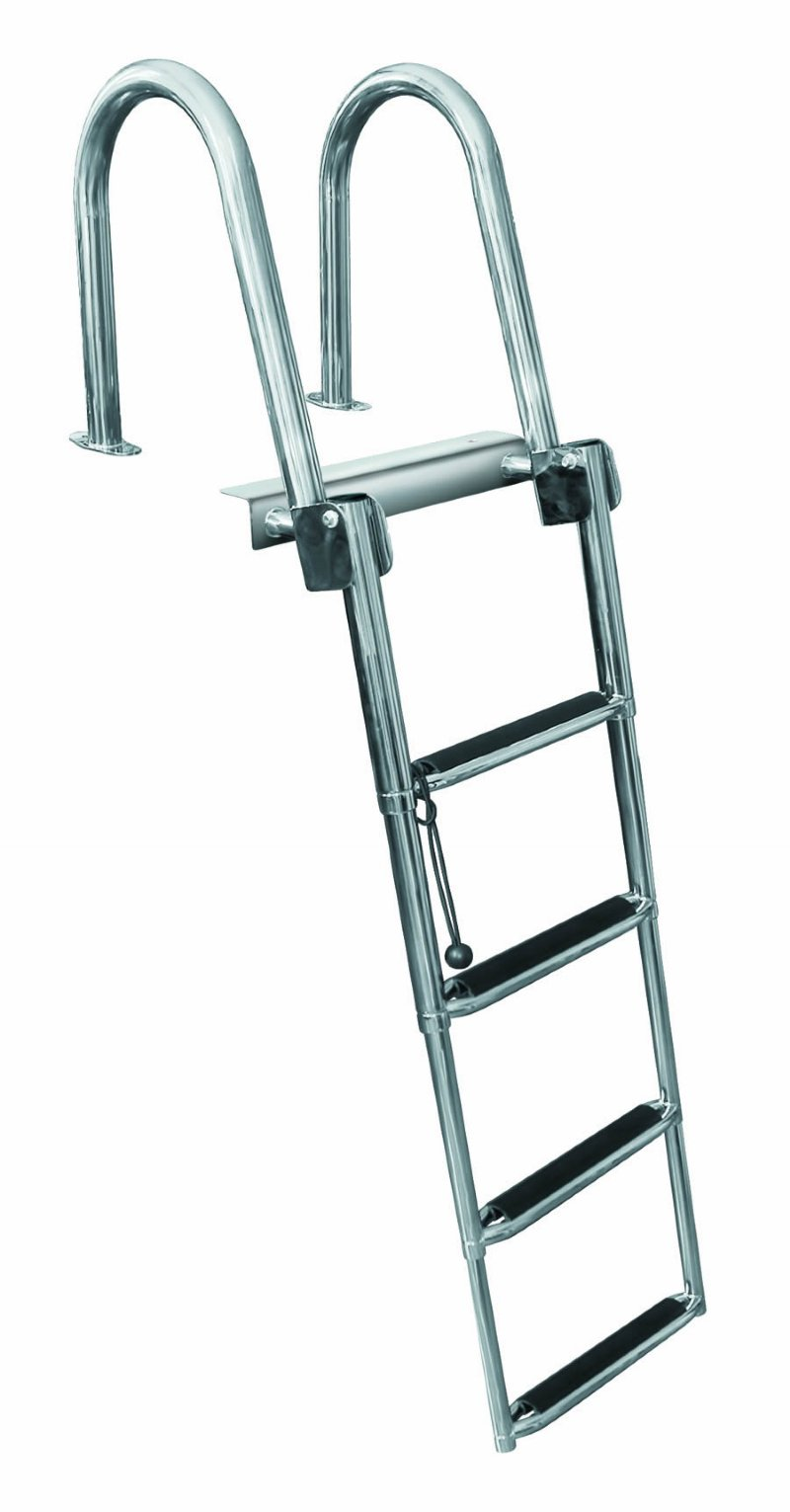 4 Step Rear Entry Stainless Steel Pontoon Ladders 4 Step