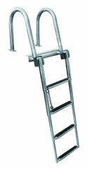 4 Step Rear Entry Stainless Steel Pontoon Ladders