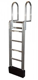 5 Step FLOATSTEP Aluminum Dock Ladders