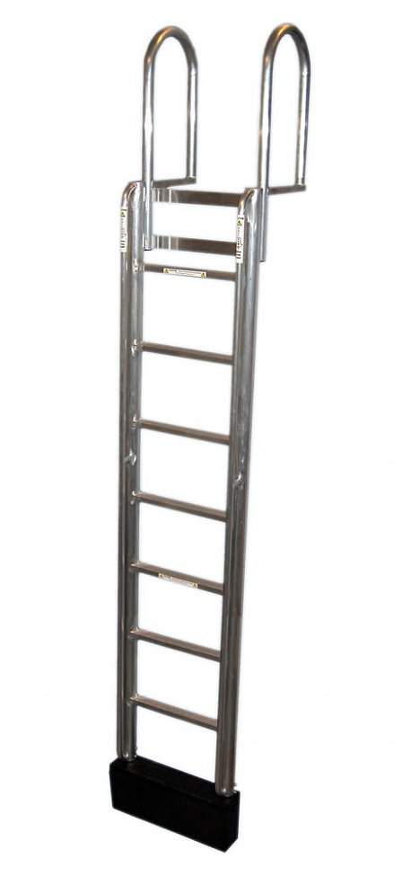 9 Step FLOATSTEP Aluminum Dock Ladders