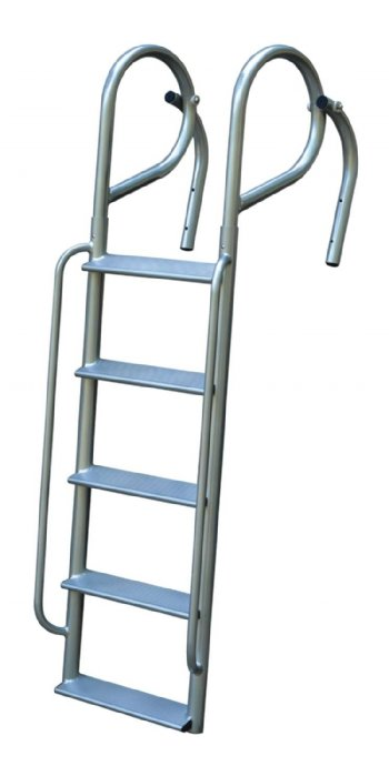 JIF Marine 6 Step Angled Swing Ladders with Handrails