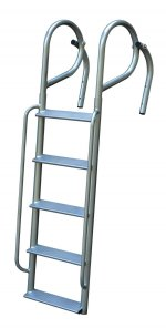 JIF Marine 5 Step Angled Swing Ladders with Handrails