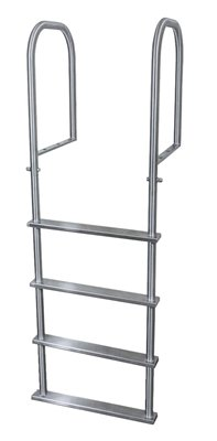 4 Step Stainless Dock Ladders, Top Mount, 20 in. Deep Handles