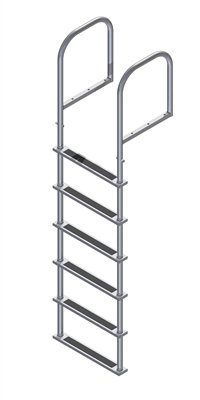 6 Step Stainless Dock Ladders, Top Mount, 20 in. Deep Handles