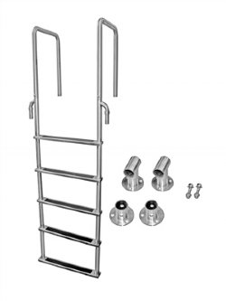 5 Step Stainless Dock Ladders with 15.75 in. Deep Handles