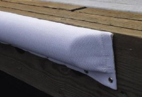 "3ft Large Dock Bumpers, Textile Covered, 5 1/2""W x 2 1/4""D x 3' L - CLEARANCE (1 In Stock)"