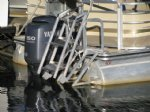Aqua-Stairs Heavy Duty Rear Mount Pontoon Ladder