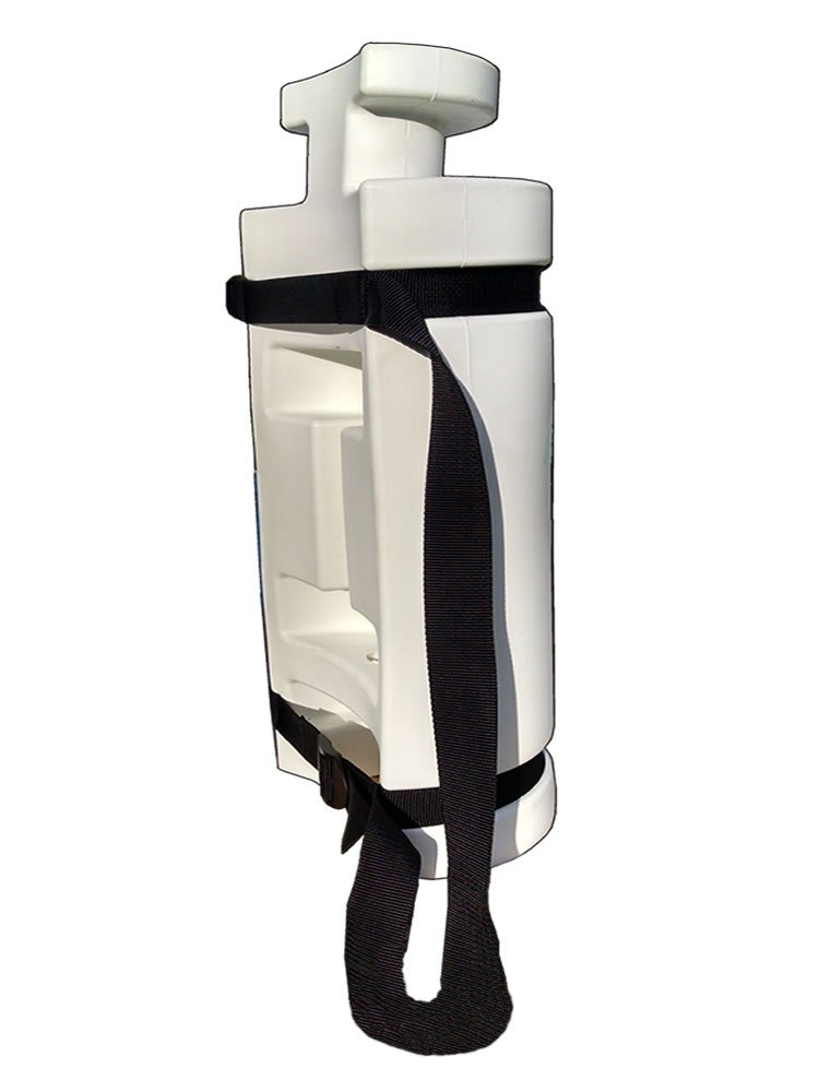 26 in. White Seahorse Piling Bumpers, 26in Seahorse Front White Fenders   DockGear.com