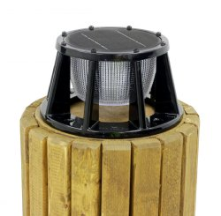 Lake Lite Solar Piling Lights, 3 Color LED, BLACK Powder Coat