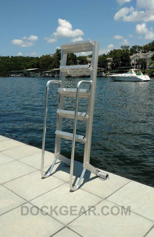 JIF Aluminum Dock Ladder w// Mounting Hardware 5 Steps