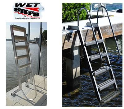 Wet Steps Aluminum Dock Ladders