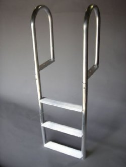 A1A 7 Step WIDE STEP Straight Dock Ladders